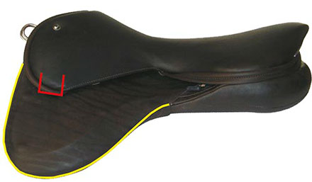 The support surface of this saddle is greater than that of the same size western saddle!